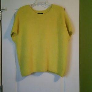 Yellow fuzzy sweater Cynthia Rowley